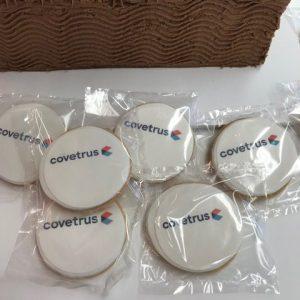 cookies with corporate logo branding