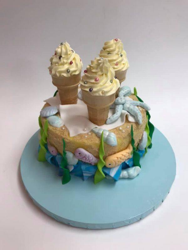 ice cream cone cake /beach cake decorating classes Brisbane