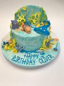 Sea life cake by Contemporary Cakes Jackie Thompson cake-