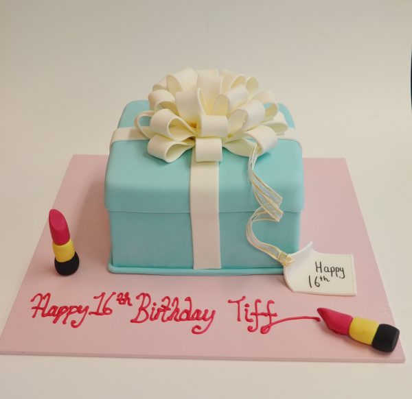 Tiffany Box birthday cake Contemporary Cakes and Classes