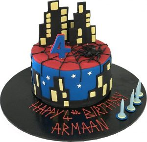Super Hero Spiderman cake by Contemporary Cakes Jackie Thompson