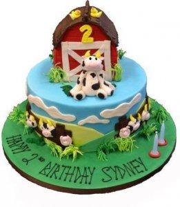 Farmyard birthday cake by Contemporary Cakes Jackie Thompson