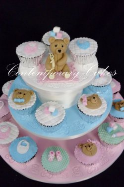 Baby Shower, christening cakes and cupcakes. Logan Brisbane Contemporary Cakes and Classes
