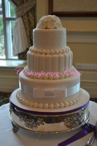 Wedding Cake Stand Hire Logan Contemporary-Cakes-