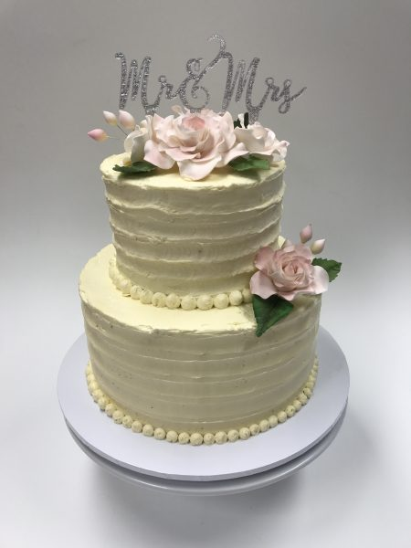 Buttercream Wedding Cakes Logan Contemporary-Cakes-